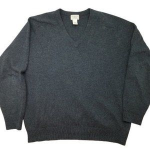 L.L. Bean V Neck Lambswool Sweater Large